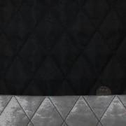 キルト 生地 ポリエステル タフタ キルティング 黒 ダイヤステッチ 120cm幅 [QT137]