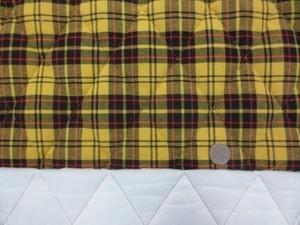 キルト 生地 コットン タータンチェック 黒 黄チェック キルト 140cm幅 [QT141]
