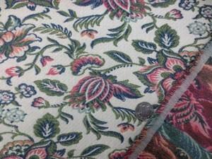 ゴブラン 生地 ゴブラン織り 花柄 生成地 154cm幅 [PT4600]