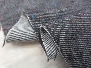 コットン 生地 綾織り カラフルネップ 濃ブラウン 110cm幅 [MU1058]