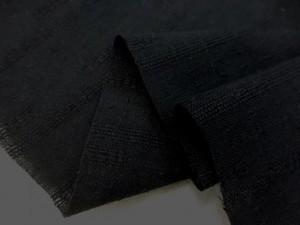 綿麻  生地 綿麻ドビー 黒 110cm幅 [AS1103]