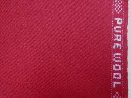 ウール 生地 ウール サキソニー 赤 150cm幅 [WO1147]