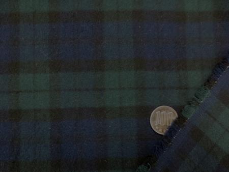 チェック 生地 起毛 ネル タータンチェック ブラックウオッチ 112cm幅 [FC819]