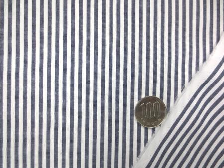 ストライプ 生地 ロンドンストライプ ダンガリータイプ 2.5mm濃紺/2.5mm白 115cm幅 [SR682]