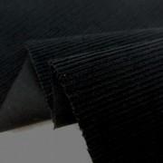 コール天 生地 細畝 16Wコーデュロイ 黒 110cm幅 [KO899]