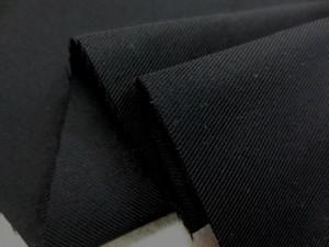 ポリエステル 生地 ツイル カツラギ 黒 130cm幅 [MU970 ]