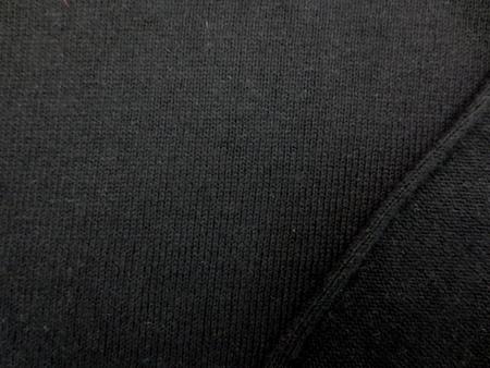 ニット 生地 コットン 天竺ニット 黒 170cm幅 [JJ1345]