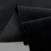 コール天 生地 細畝 18W ストレッチ コーデュロイ 黒 116cm幅 [KO903]