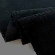 コール天 生地 細畝 11W ストレッチ コーデュロイ 黒 108cm幅 [KO906]