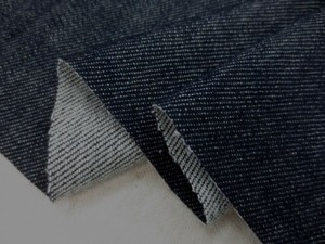 デニム 生地 8オンス ストレッチデニム 濃紺 洗い加工 147cm幅 [DE2159]