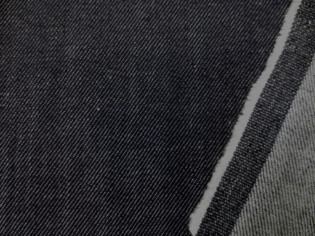 デニム 生地 8オンス ストレッチデニム 濃紺 150cm幅 [DE2158]