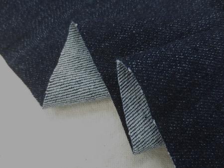デニム 生地 9オンス コットン リヨセル ストレッチデニム 濃紺 洗い加工 126cm幅 [DE2161]