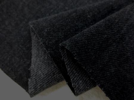 デニム 生地 10オンス デニム ストレッチ 墨黒 洗い加工 134cm幅 [DE2166]