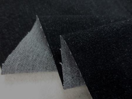 デニム 生地 8オンス ストレッチデニム 黒 112cm幅 [DE2170]
