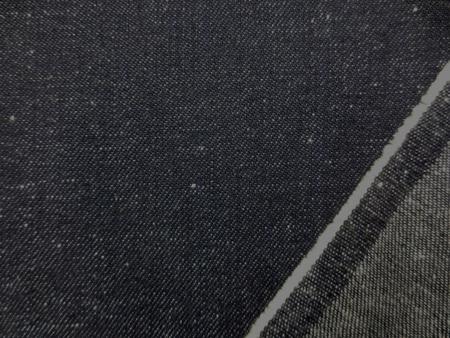デニム 生地 8オンス ネップ デニム 濃紺 150cm幅 [DE2171]