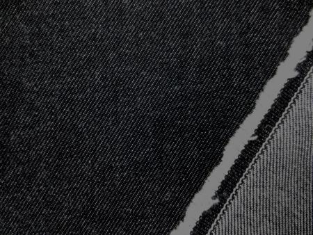 デニム 生地 12オンス デニム 黒 150cm幅 [DE2174]