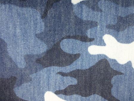デニム 生地 13オンスデニム 迷彩 カモフラージュ 155cm幅 [DE2344]