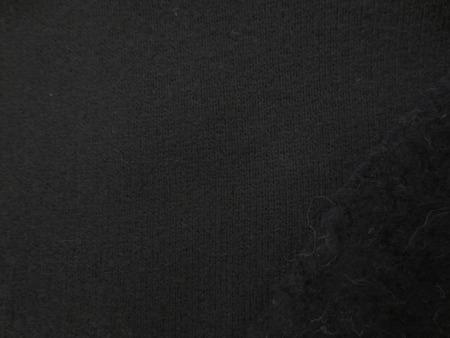 ニット 生地 裏毛 トレーナー地 黒 ソフト 裏起毛 160cm幅 [JJ1538]
