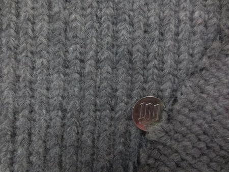 ニット 生地 ウール スライバーニット 杢グレイ イタリー製 130cm幅 [JJ1542]
