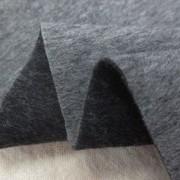 ウール 生地 ウール リバーシブル 杢グレイ/杢濃グレイ 130cm幅 [WO1260]