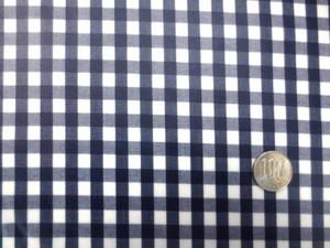 ラミネート 生地 チェック 濃紺/白 ギンガムチェック ビニルコーティング 110cm幅 [BN536]