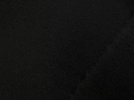 ニット 生地 裏毛 トレーナー地 黒 裏起毛 180cm幅 [JJ1439]