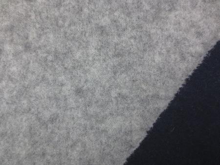 ニット 生地 ウールニット リバーシブル 杢グレイ/濃紺 136m幅 [JJ1444]
