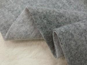 ニット 生地 ウールニット リバーシブル 杢濃グレイ/杢グレイ 127m幅 [JJ1445]