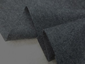ニット 生地 圧縮ニット 杢濃グレイ 140cm幅 [JJ1450]