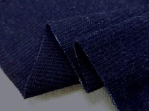 ニット 生地 インディゴ リブニット 濃紺 120cm幅 [JJ1451]
