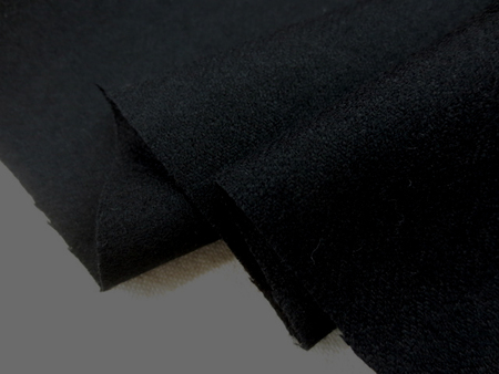 ウール 生地 ウール ヘリンボーン 黒 150cm幅 [WO1194]