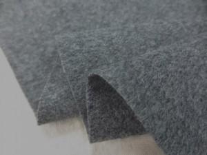 ウール 生地 ウール ソフトサキソニー 杢グレイ 150cm幅 [WO1196]