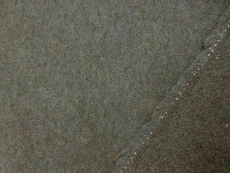 ウール 生地 ウール フラノ 杢カーキ 152cm幅 [WO1197]