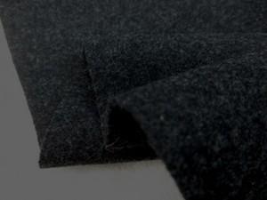 ウール 生地 ウール モッサ 杢濃グレイ 130cm幅 [WO1199]