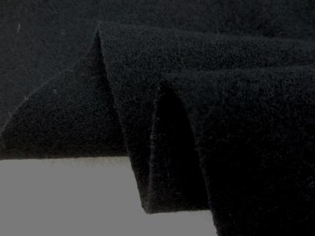ウール 生地 ウール モッサ 黒 130cm幅 [WO1200]