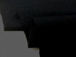 ウール 生地 ウール 平織 黒 138cm幅 [WO1205]