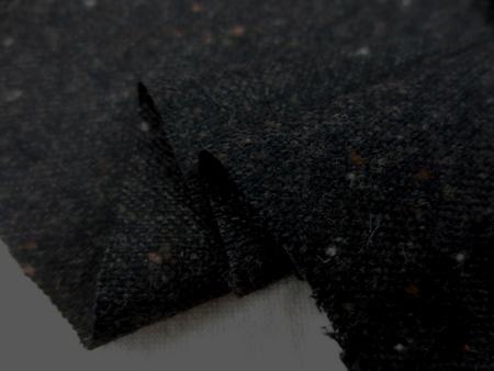 ウール 生地 ウール カラーネップ ツイード 杢濃ブラウン 145cm幅 [WO1207]
