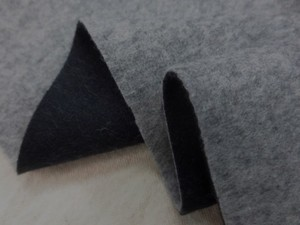 ウール 生地 ウール モッサタイプ リバーシブル 薄杢グレイ/濃紺 135cm幅 [WO1208]