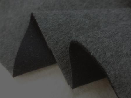 ウール 生地 ウール モッサタイプ リバーシブル 濃杢グレイ/濃紺 135cm幅 [WO1209]