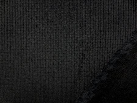 コール天 生地 ストレッチコール 細畝コール天 黒 110cm幅 [KO864]