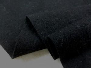 ニット 生地 ウールニット 黒 135cm幅 [JJ1352]