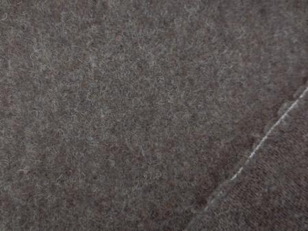 ウール 生地 モヘアタイプ 杢濃ブラウン 153cm幅 [WO1157]