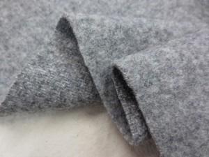 ウール 生地 ウールモッサ 杢グレイ 150cm幅 [WO1159]