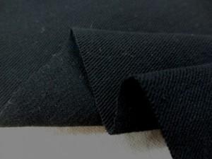 コットン 生地 カツラギ ワッシャー 黒 145cm幅 [MU973]
