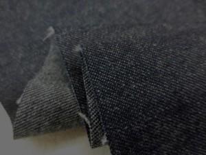デニム 生地 8.5オンス デニム 濃紺 横糸グレイ 148cm幅 [DE2043]