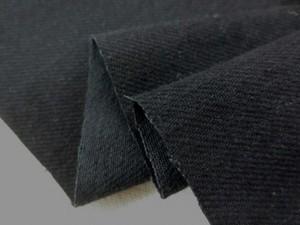 デニム 生地 10オンス ワッシャー ブラックデニム 真っ黒 150cm幅 [DE2052]