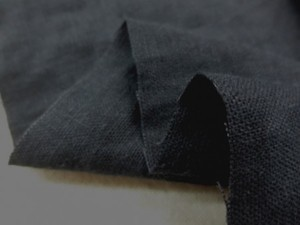リネン 生地 ヨーロッパリネン 洗い加工 グレイネイビー [AS1056]