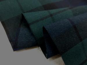 チェック 生地 ポプリン タータンチェック ブルーライン/ブラックウオッチ 115cm幅 [FC826]