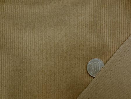ウール 生地 中畝コールタイプ キャメル 150mcm幅 [WO1163]
