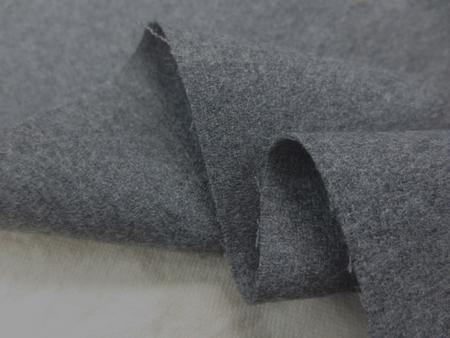ウール 生地 ウールジョーゼット 杢グレイ 撥水 145mcm幅 [WO1164]